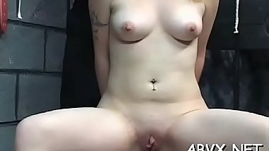Naked wife extreme home porn in coarse bondage non-professional scenes