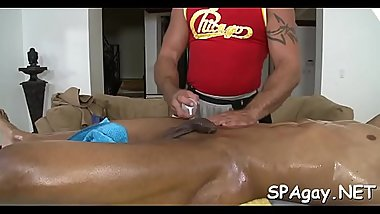 Unfathomable anal massage for tired gay dude