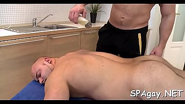 Excited dude is giving stud a lusty cock sucking experience