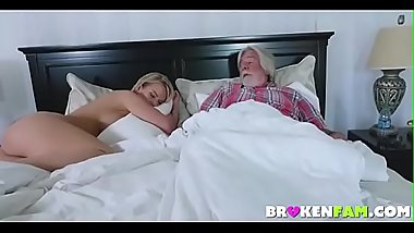 Horny wife fucks son while husband sleeps-FREE Full Videos at BrokenFam.com