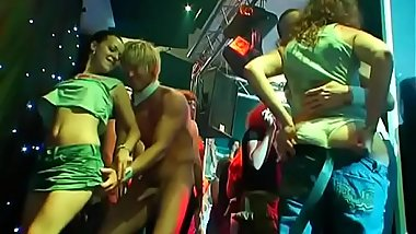 Tons of blonde ladies engulfing dicks and being fingered at bang