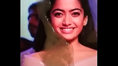 Cute and Sexy Rashmika Mandanna Cum Tribute