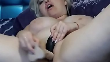Huge Natural Tits On This Webcam Slut