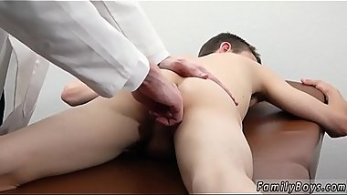 Cute boy in underwear view and young brazilian gay Doctor'_s Office