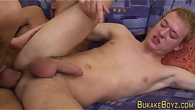 Latin twink jizzed over